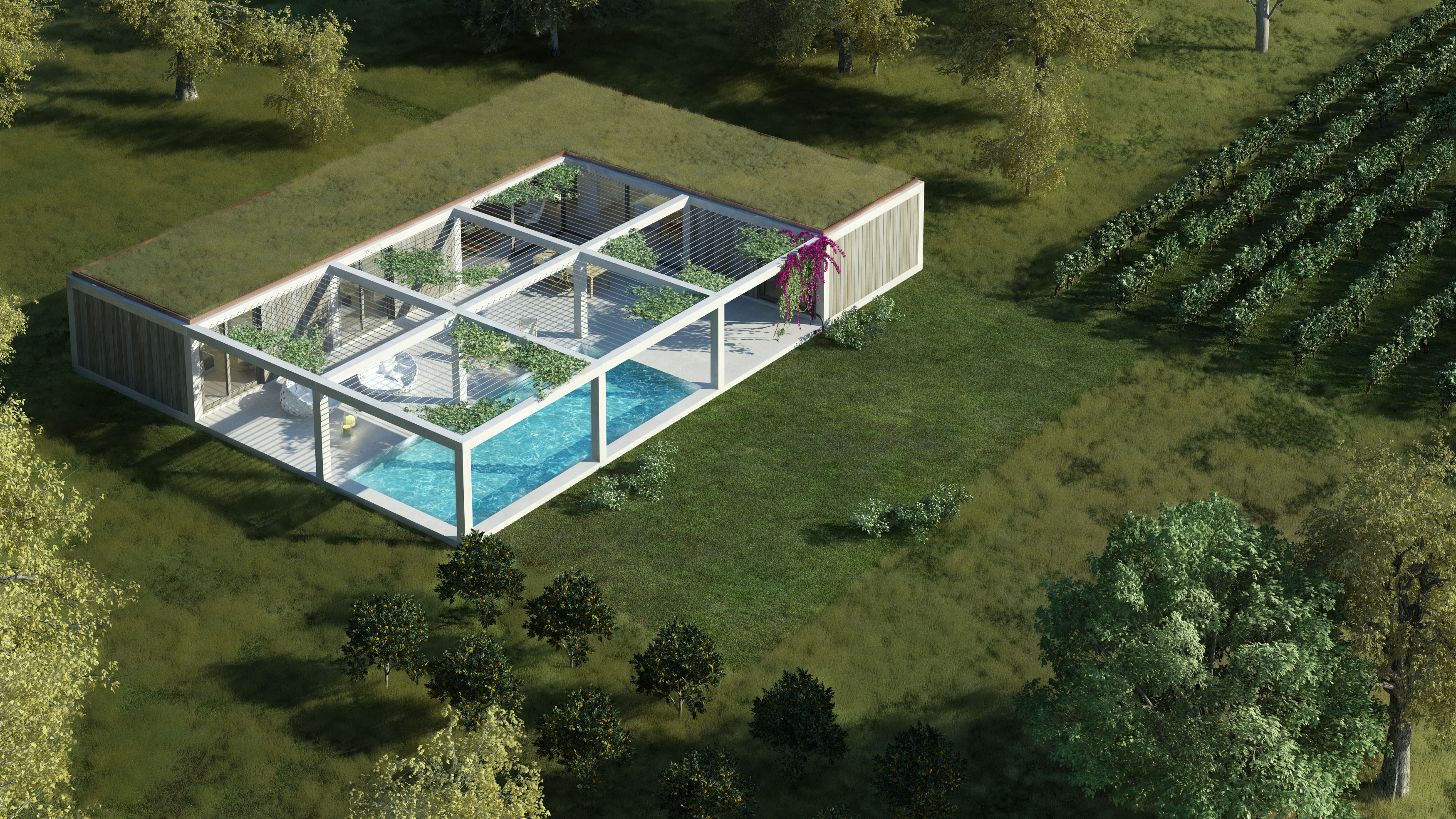 3 bedroom villa with a swimming pool