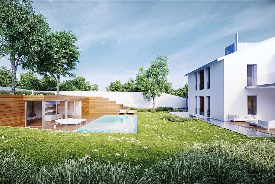 Villas / Townhouses for Sale at Villa with a garden, a swimming pool and a river v Lisboa, Portugal