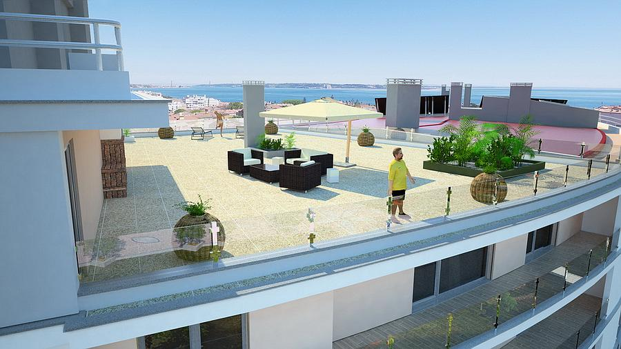 Penthouse with an incredible view of the Tagus est Oeiras, Portugal