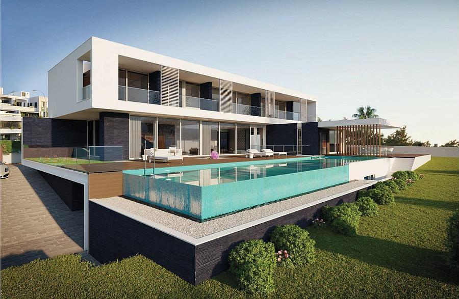 Villas / Stadthäuser für Verkauf beim Excellent villa with a sea view in its constructio Oeiras, Portugal