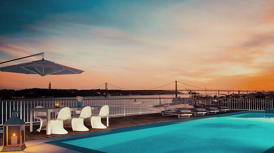 Apartamento T5 com piscina