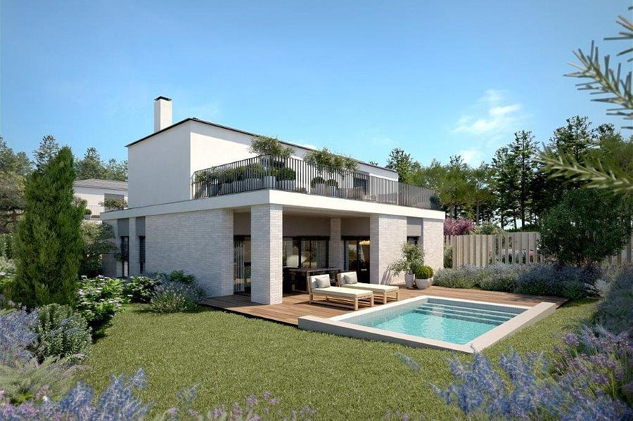 3 bedroom villa with a swimming pool in gated community