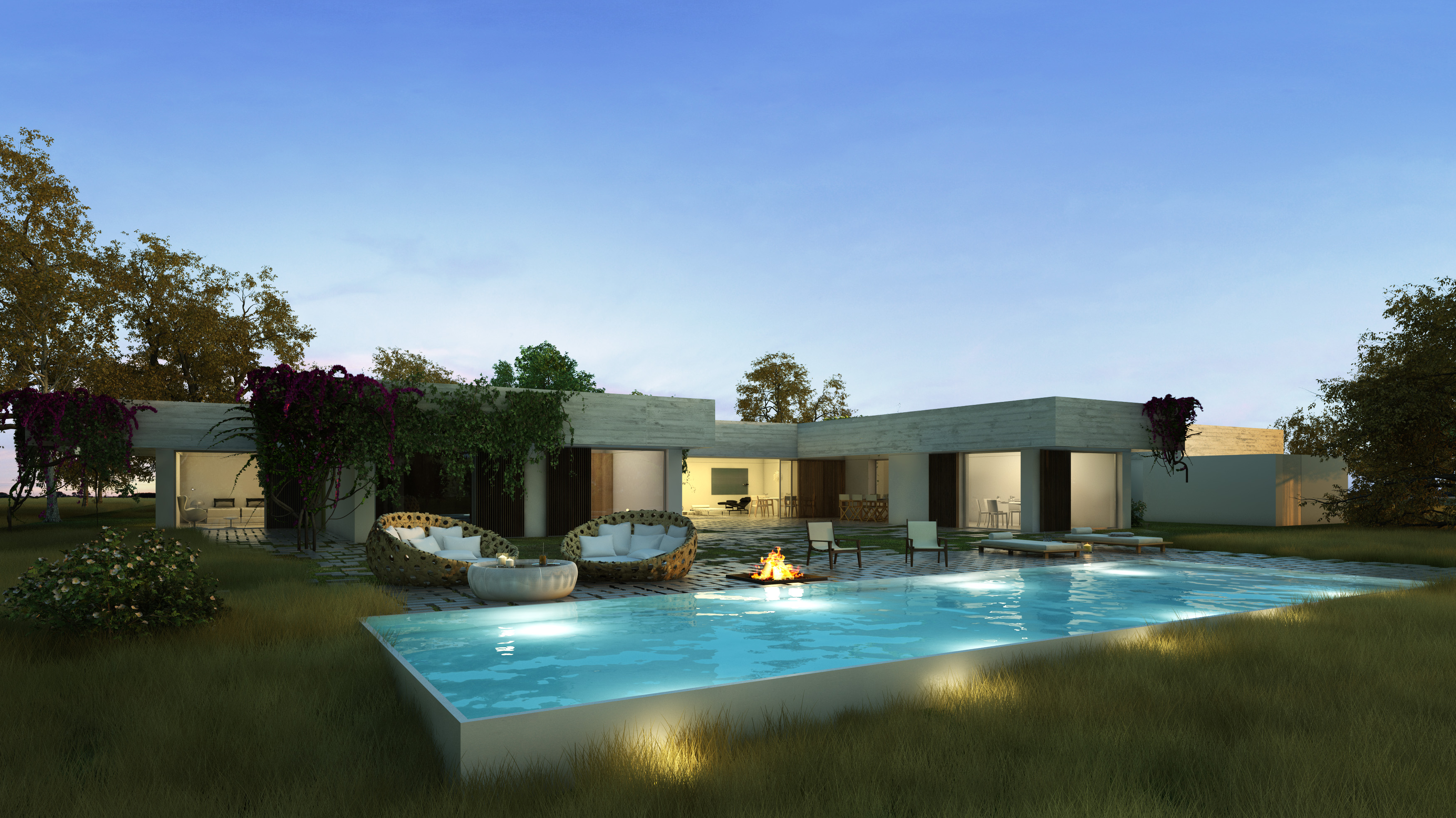 2 bedroom villa with a swimming pool