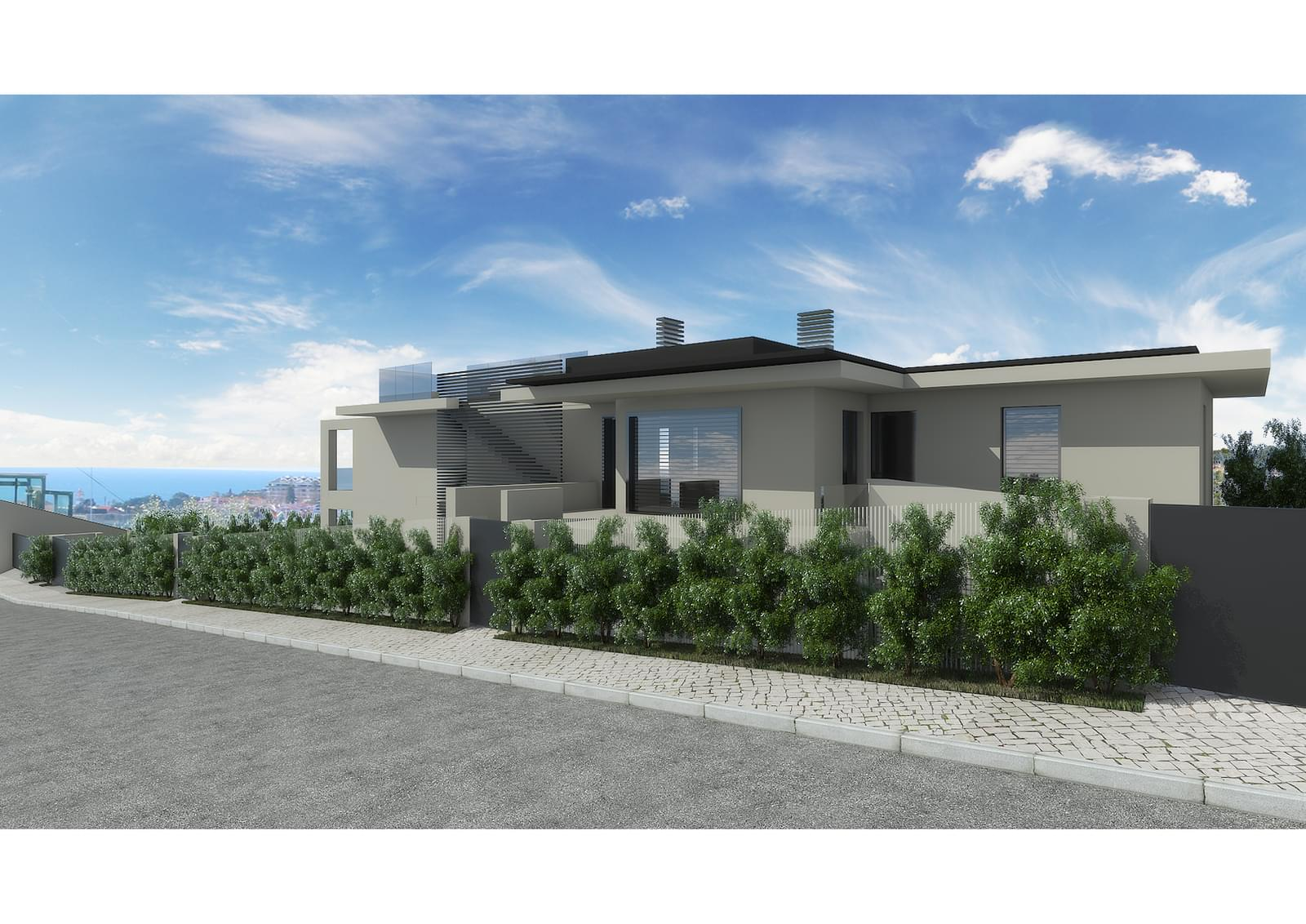 4 bedroom duplex with a swimming pool in gated community