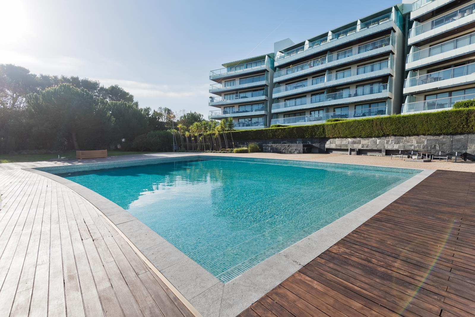 2 bedroom apartment with a swimming pool in gated community