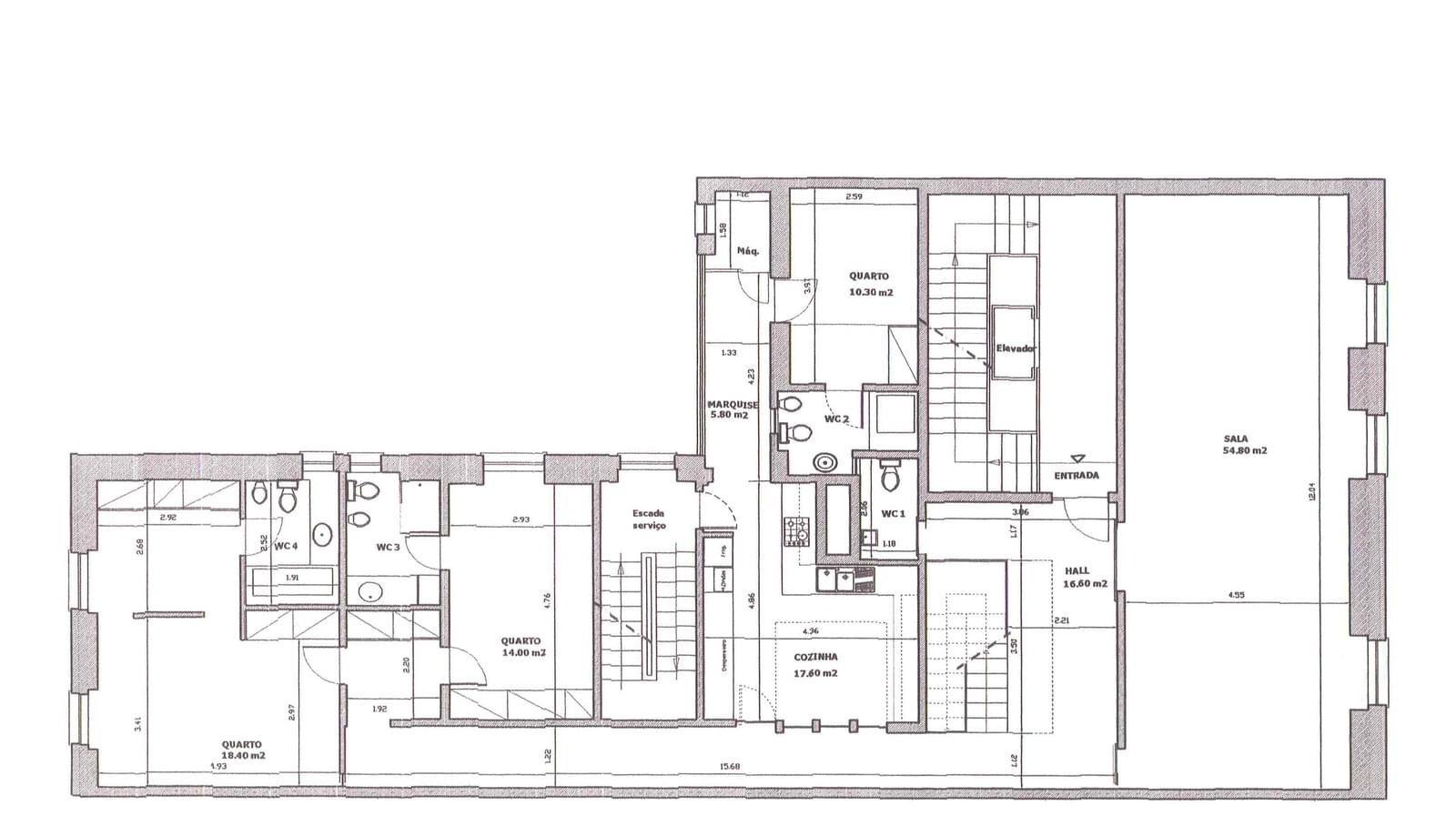 Apartamento T5+1 duplex Avenidas Novas