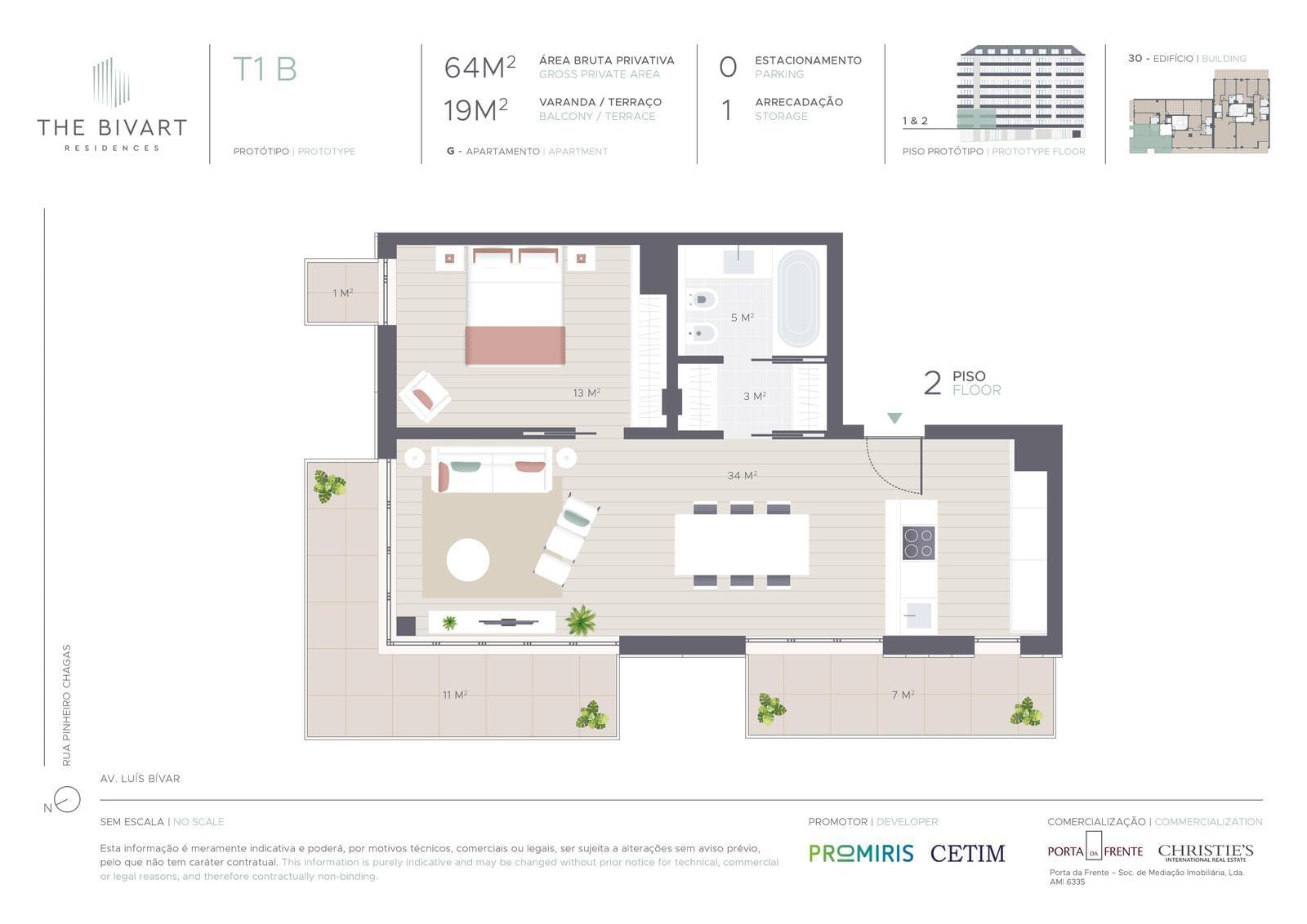 PF22228, Apartamento T1, Lisboa