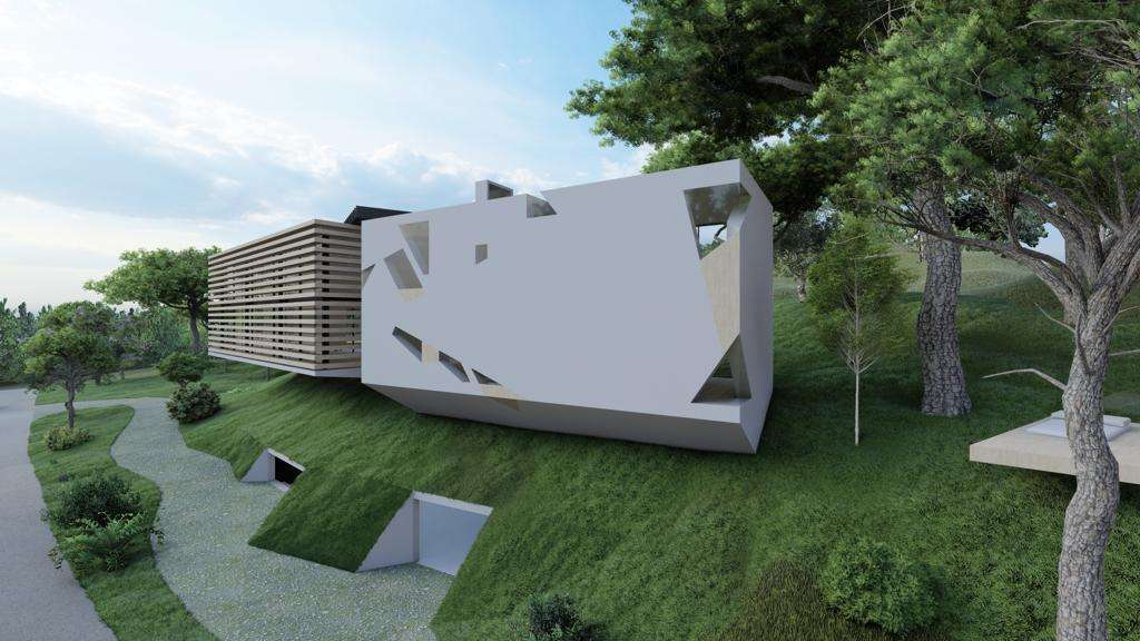 Terrain à Quinta Patiño avec projet approuvé pour une villa d'architecture contemporaine