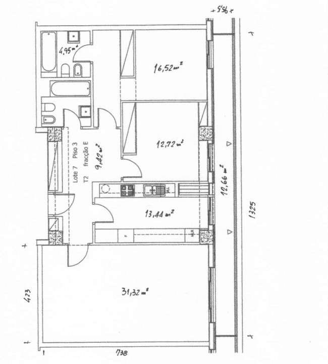 PF25518, Apartamento T2, Oeiras