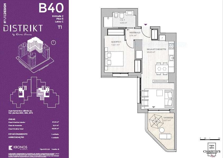PF25524, Apartamento T1, Lisboa